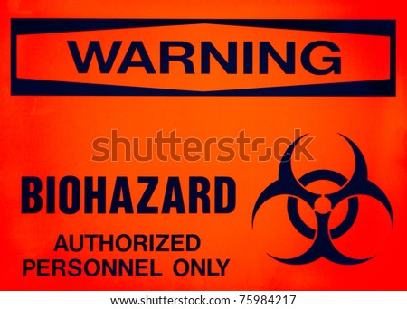 Warning sign, BIOHAZARD - stock photo