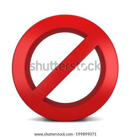 Warning sign. 3d illustration isolated on white background  - stock photo