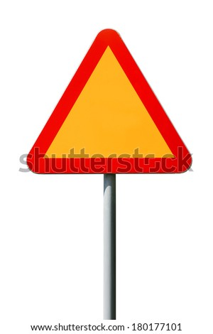 Warning sign empty - stock photo
