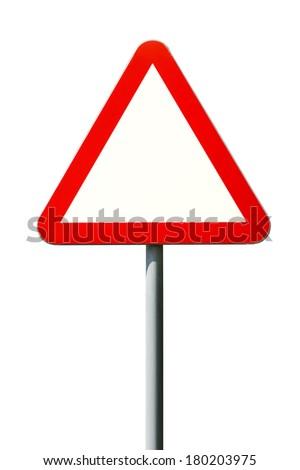 Warning sign empty - stock photo