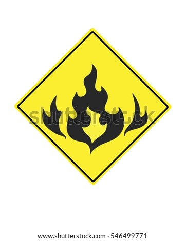warning sign for flammable compounds
