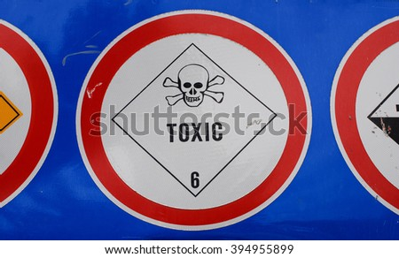 warning sign toxic