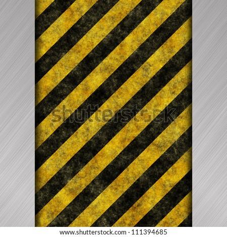 warning stripes background - stock photo
