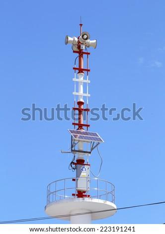 warning tower  - stock photo