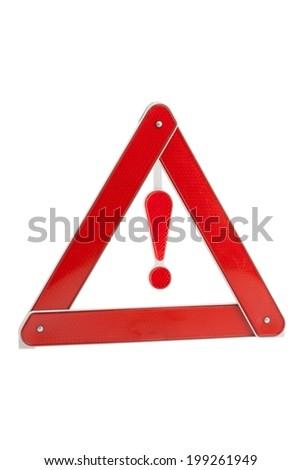warning triangle - stock photo