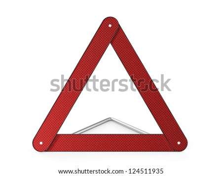 Warning triangle on white background