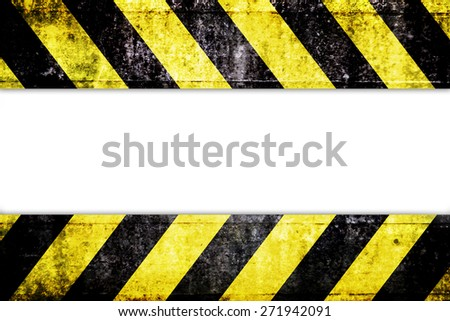 Warning zone pattern in front of white background