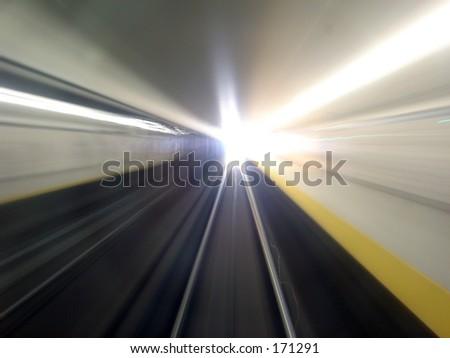 Warp Speed - stock photo