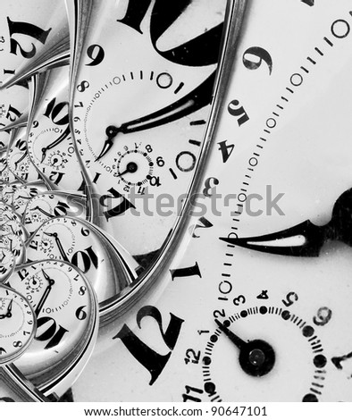 Warped time abstract - stock photo