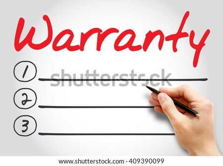 Warranty blank list, business concept background - stock photo