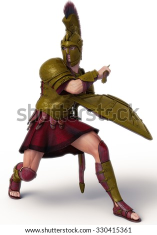 warrior 3 - stock photo