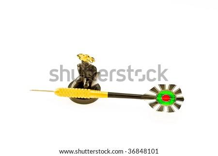 warrior and javelin - stock photo