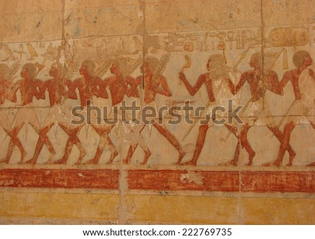 Warrior Mural at Temple of Hatshepsut