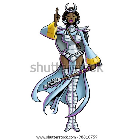 Warrior Priestess - stock photo