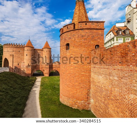 Warsaw Fortress was a system of fortifications built in Warsaw, Poland during the 19th century when the city was part of the Russian Empire. - stock photo