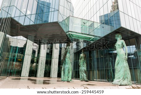 WARSAW, POLAND/EUROPE - MARCH 8 : The Supreme Court in Warsaw Poland on March 8, 2015 - stock photo