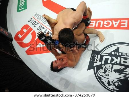 WARSAW, POLAND - FEBRUARY 06, 2016: ACB International Mixed Martial Arts Fight Night - stock photo