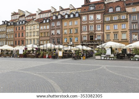 WARSAW, POLAND - JULY 08, 2015: Old town in Warsaw, Poland.