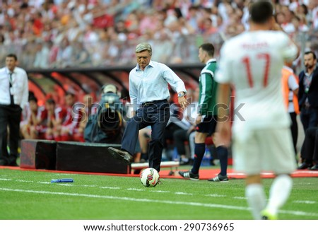 WARSAW, POLAND - JUNE 17, 2015: EURO 2016 EURO France Football Cup Qualifiers Scotland vs Georgia