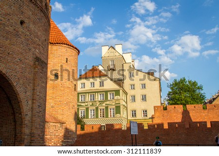 WARSAW, POLAND - JUNE 5: Old Town Stare Miasto, historic centre, Warsaw, Poland on June 5, 2015
