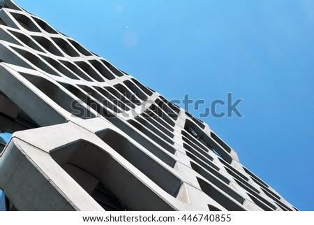Warsaw,Poland. Juni 2016.Prosta Tower is a modern A class office building offering approx.Construction and fit out standards meet best market standards and newest architecture trends.  - stock photo