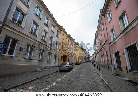WARSAW, POLAND - 18 MARCH 2016: Warsaw old town