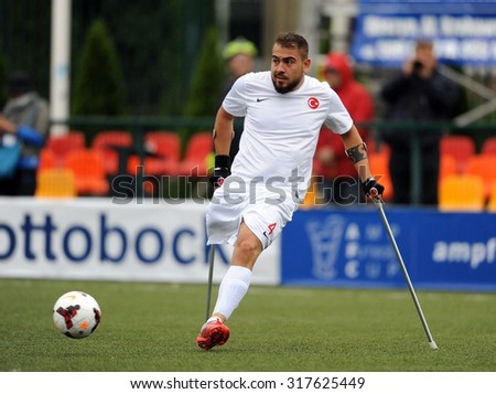 WARSAW, POLAND - SEPTEMBER 12, 2015: AMP Football cup Warsaw Poland 2015