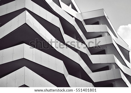 Modern Apartment Building Facade modern facade stock images, royalty-free images & vectors