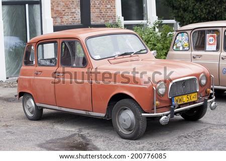 WARSAW - September 28: Old Renault car on Oldtimers meeting.September 28, 2013 in Warsaw, Poland. - stock photo