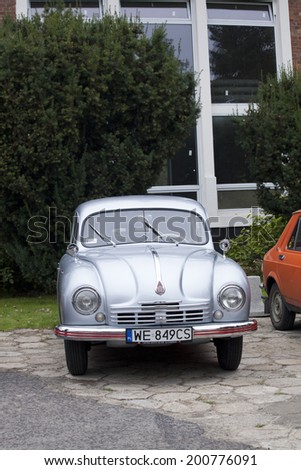 WARSAW - September 28: Old Tatra car on Oldtimers meeting.September 28, 2013 in Warsaw, Poland. - stock photo