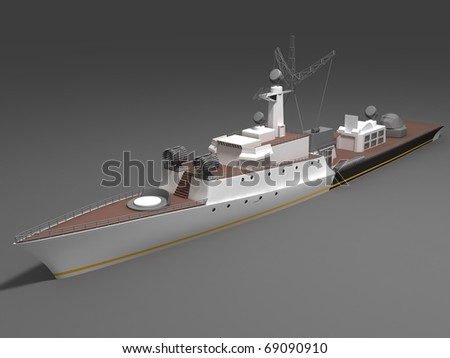 Warship - stock photo
