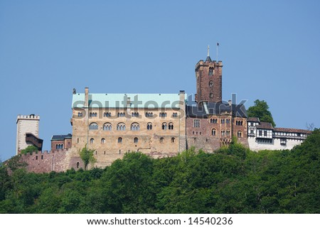 Wartburg, Eisenach, Germany - stock photo