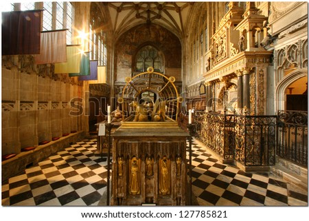 WARWICK DECEMBER 17: The  Interior of the recently restored St Marys cathedral  in full glory  in  Warwick  December 17, 2005 England.