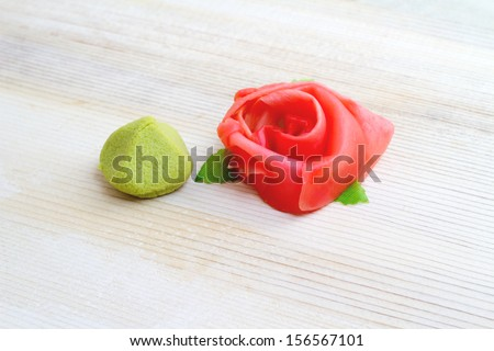 Wasabi and ginger - stock photo