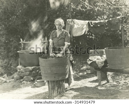 Wash day - stock photo