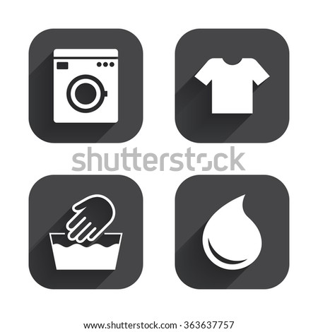 T Shirt Clothes Symbol Laundry Washhouse And