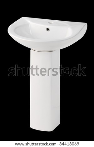 Washbasin with stand type best for your new restroom isolated - stock photo