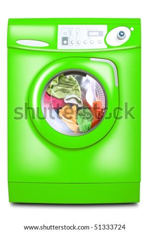 Washer. Isolated on white background. - stock photo
