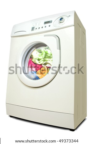 Washer. Isolated on white background with clipping path. - stock photo