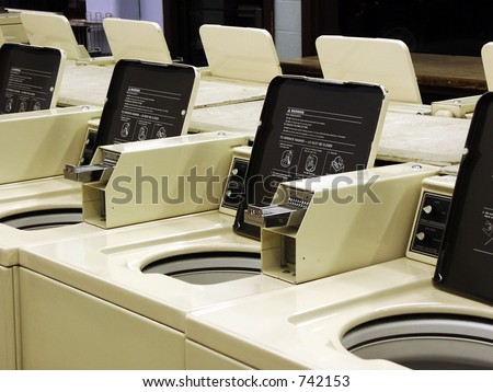 Washers and Dryers - stock photo
