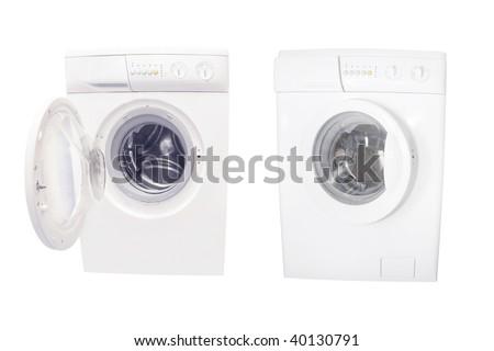 washers under the white background - stock photo
