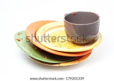 Washing Dishes - stock photo