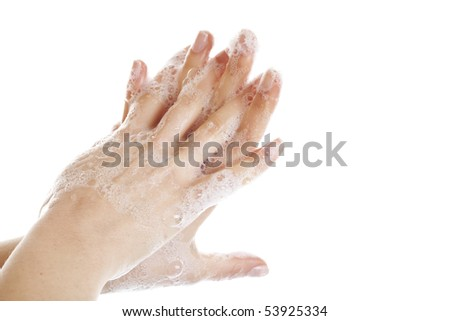 Washing Hands - stock photo