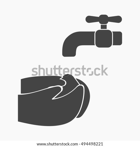 Please wash your hands icon stock images royalty free for Simple single