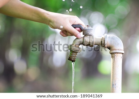 Washing hands , Water for the World Economy - stock photo