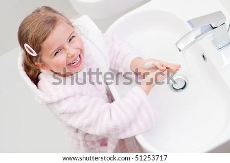 Washing is fun - stock photo