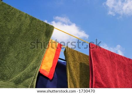 Washing line - stock photo