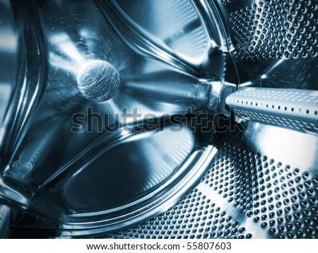 Washing machine drum interior - stock photo