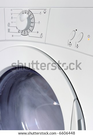 washing machine in action - stock photo