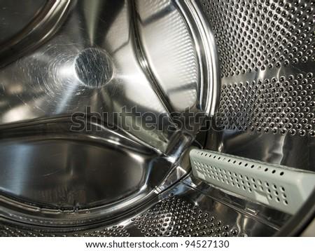 Washing Machine inside - stock photo